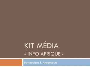 Consultez nos tarifs pour communiquer sur Info Afrique