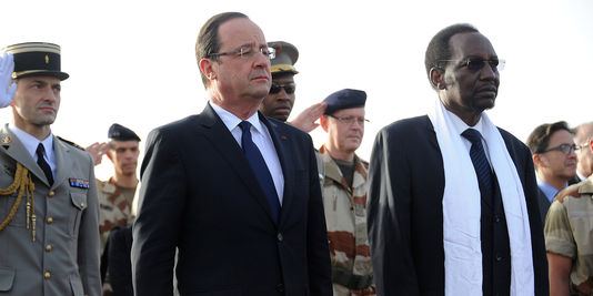 Dioncounda Traoré et François Hollande au Mali