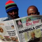 La presse titre sur la santé de Mandela
