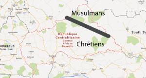 couper la centrafrique en deux pays musulmans et chrétiens
