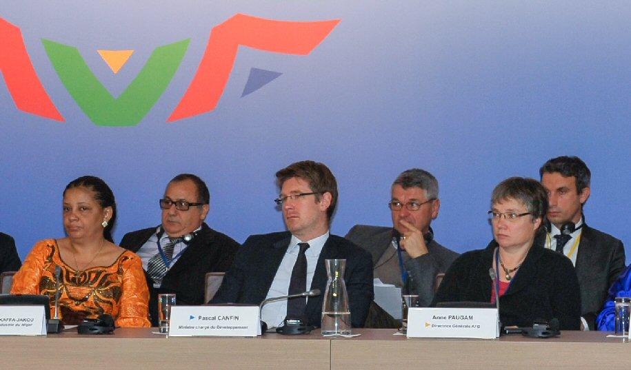 Anne Paugam, directrice de l'Agence Française de Développement et Pascal Canfin, Ministre délégué au Développement