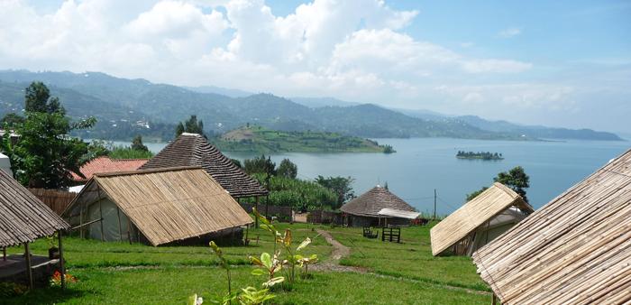 Le Indzu Lodge au bord du lac Kivu