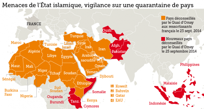 Les pays à risque dans le monde