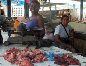 Marché au pourri en Afrique