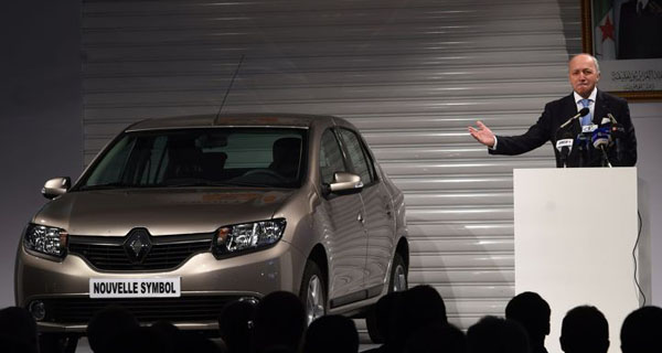 la nouvelle Renault Symbol présenté par Laurent Fabius en Algérie