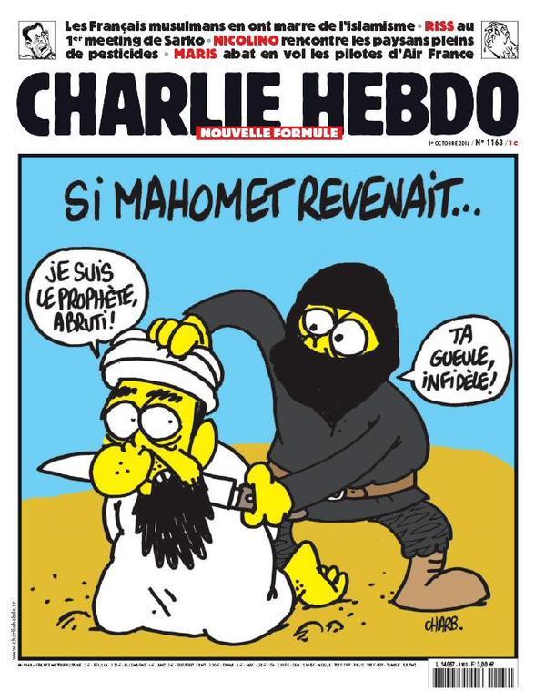 Une des une de Charlie Hebdo