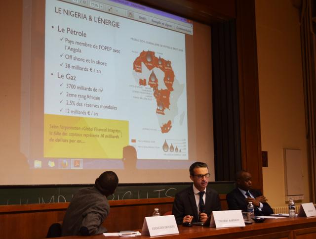 Thierry Barbaut présente à la Sorbonne les perspectives du Nigeria pour 2015