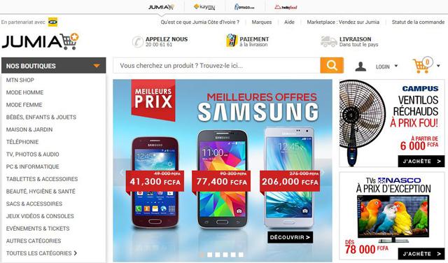 Le site internet de e-commerce www.jumia.ci propose une offre de milliers de produits de grande consommation