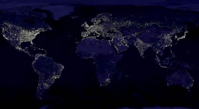 600 millions d'Africains ne disposent pas d'électricité - Photo satellite de l'Afrique