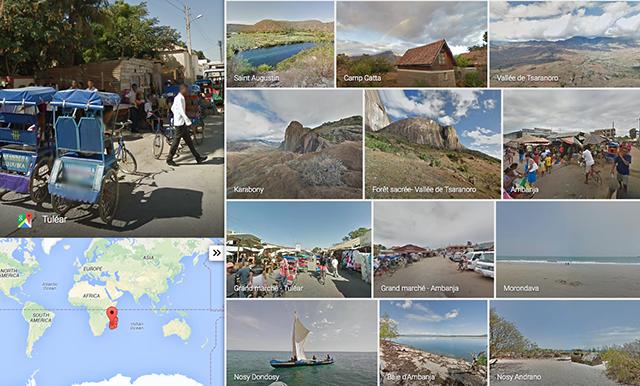 Madagascar dans Google Street View !