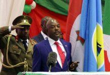 Serment en petit comité du président Nkurunziza