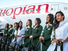 hôtesse Ethiopian Airlines