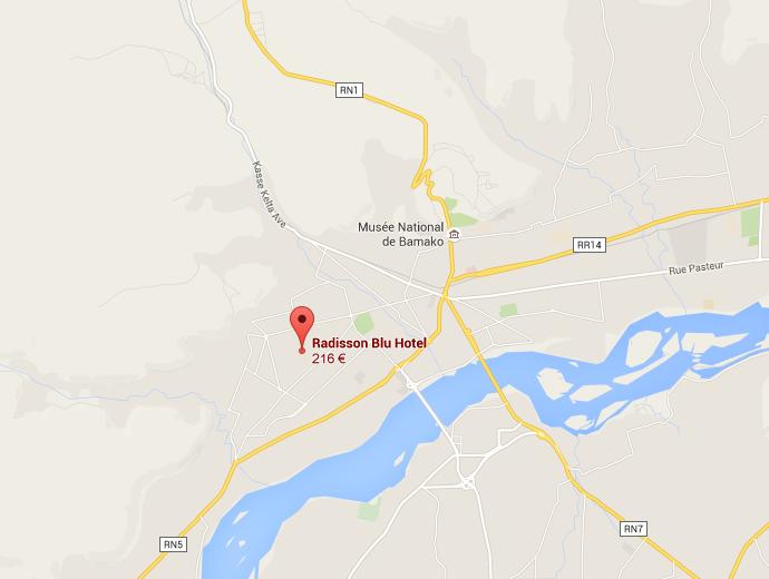 Le Radisson de Bamako est attaqué depuis la nuit du 19 Novembre au matin du 20.
