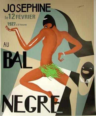 L'affiche d'époque du Bal Nègre