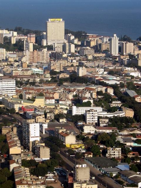 Une vue aérienne de Maputo au Mozambique