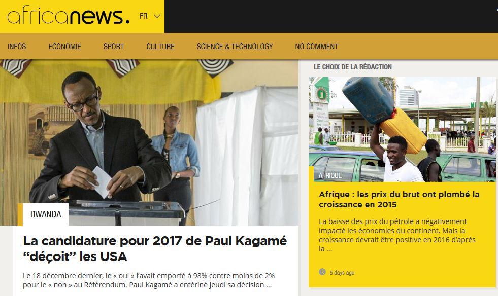 Le nouveau site Internet Africanews