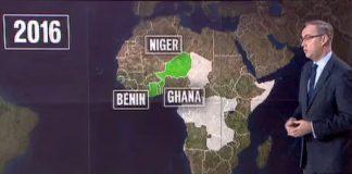 Erreur lors du JT de France 2 sur l'Afrique ui inverse les pays