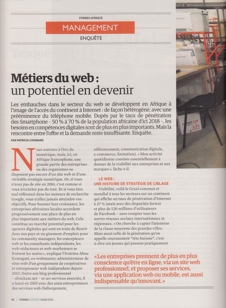 Forbes Afrique Thierry BARBAUT