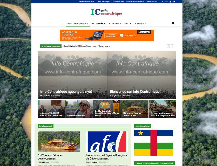 Le nouveau média Info Centrafrique