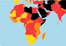 Carte de la liberté de la presse en Afrique