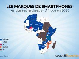 Les marques de smartphones les plus recherchés en Afrique