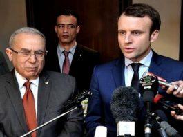 Emmanuel Macron avec Ramtane Lamamra