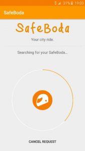 Screenshot de l'application Safe Boda