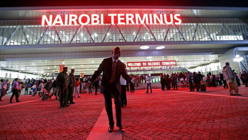 La nouvelle gare de Nairobi ou arrive le Madaraka Express