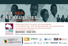 Les prix AAEA - Afrique Espoir Avenir - du Africa Now Forum de Yaoundé