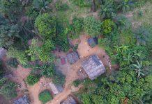 Prise de vue en drone en Afrique - crédit photo Thierry Barbaut