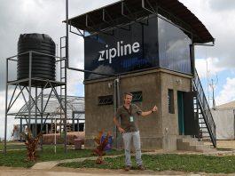 La tour de contrôle de l'aérodrone de Zipline à Muhanga au Rwanda