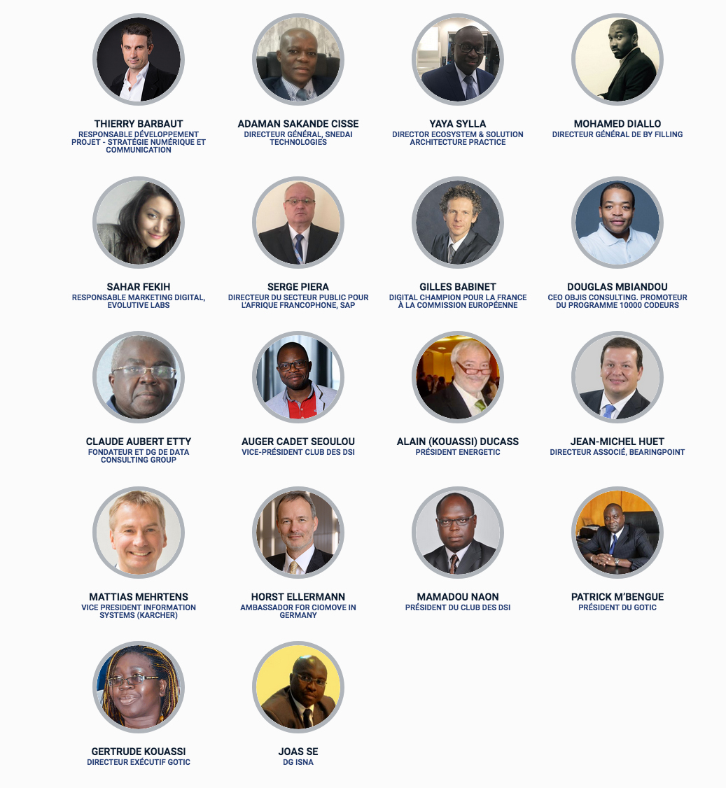 Les speakers de l'Africa Digital Week