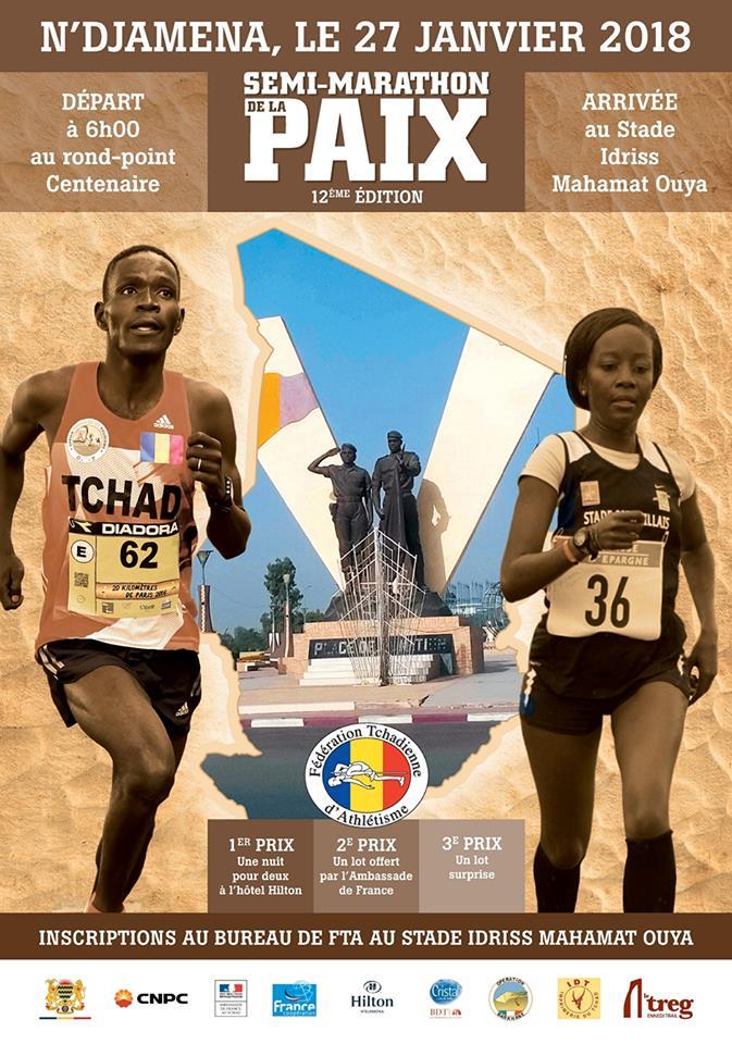 Marathon de Ndjamena au Tchad