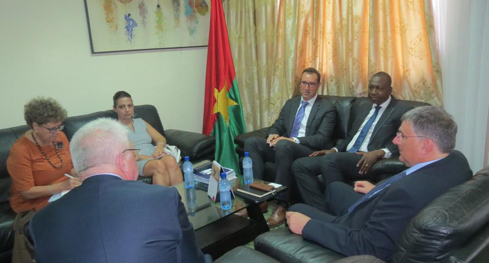 Monsieur le Ministre de l'énergie, Bachir Ismael Ouedraogo, Monsieur André Bouffioux, Siemens, Monsieur Christophe Erny, Mourax Energy