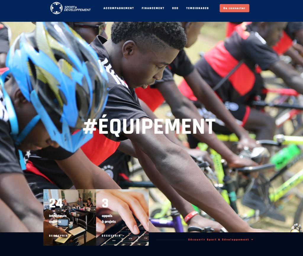 Le site Sport & Développement www.sportdeveloppement.org