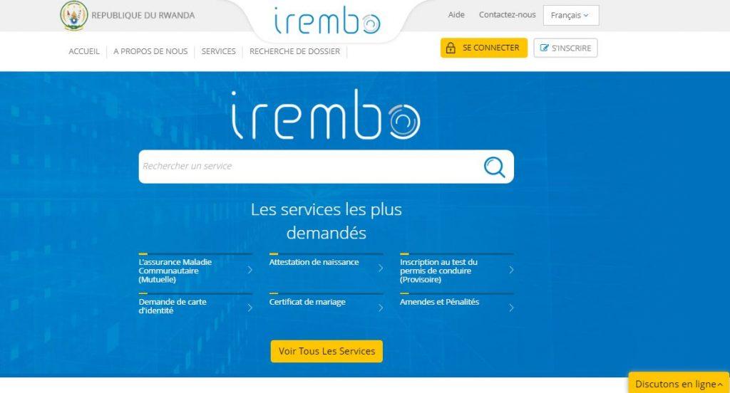 La plateforme Irembo du Rwanda Development Board