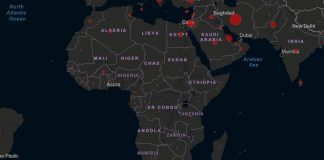 Carte Afrique coronavirus covid-19