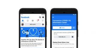 Centre information coronavirus Facebook
