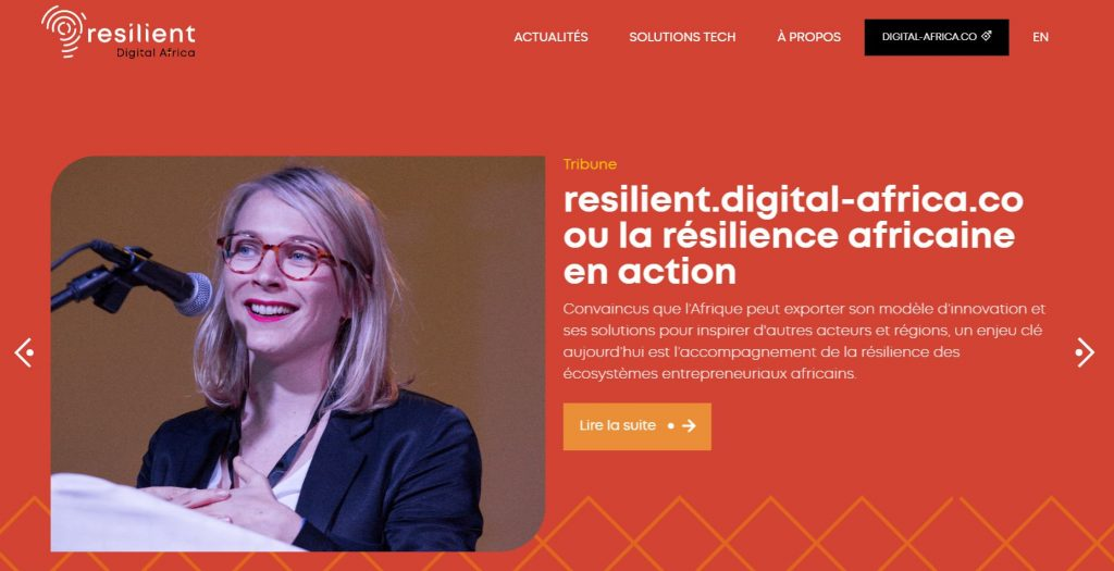 Le site Resilient Digital Africa www.resilient.digital-africa.co