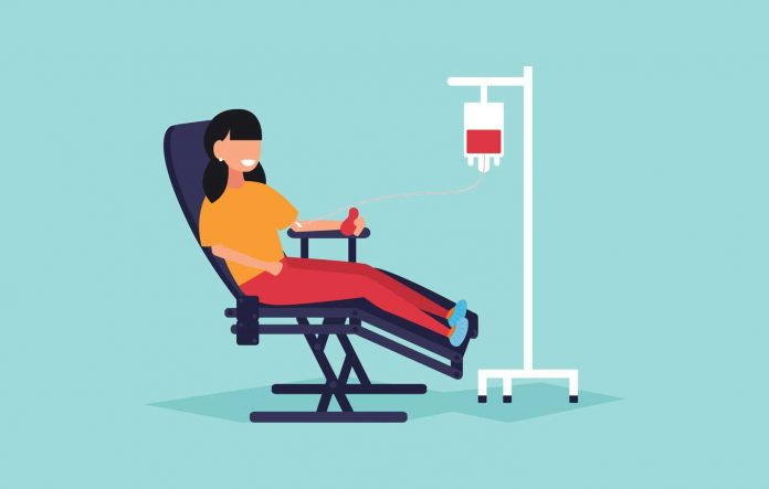 donneur de sang sur Facebook