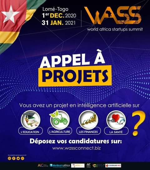 Appel à projets WASS World Africa Startup Summit Togo