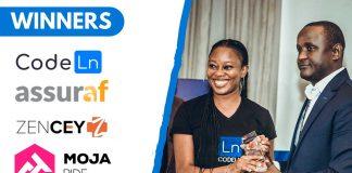 Startups lauréates Africarena Dakar