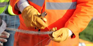 Orange cable fibre peace