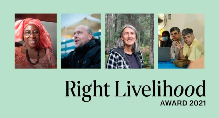 Prix Right Livelihood 2021